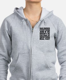 Dad Knows Everything Zip Hoodie
