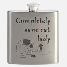 Cute Ocd obsessive cat disorder Flask