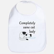 Completely Sane Cat Lady Bib
