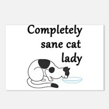 Completely Sane Cat Lady Postcards (Package of 8)