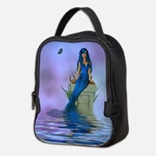 Blue Mermaid Neoprene Lunch Bag
