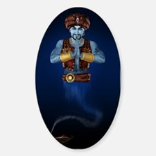 Magic Lamp Genie Sticker (Oval)