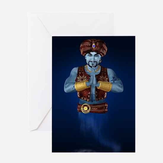 Magic Lamp Genie Greeting Card