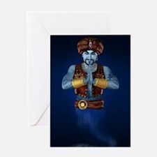 Magic Lamp Genie Greeting Cards