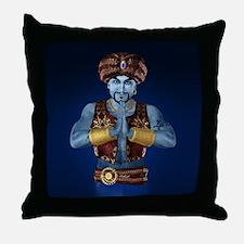 Magic Lamp Genie Throw Pillow