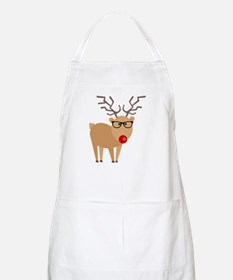 Hipster Rudolph Reindeer Cute Holiday Art Apron