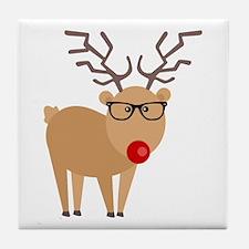Hipster Rudolph Reindeer Cute Holiday Art Tile Coa