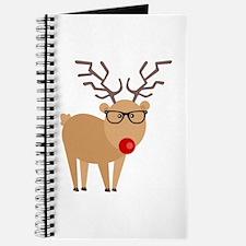 Hipster Rudolph Reindeer Cute Holiday Art Journal