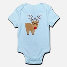 Hipster Rudolph Reindeer Cute Holiday Art Body Sui