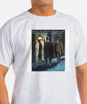 The Game is afoot in a dark alley! T-Shirt