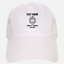 Cat Hair Is Lonely People Glitter Baseball Baseball Cap