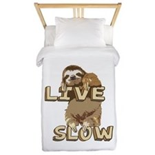 Funny Sloth - LIVE SLOW Twin Duvet