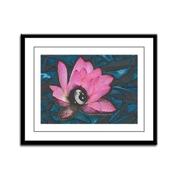 Pretty In Pink 8 Ball Framed Print