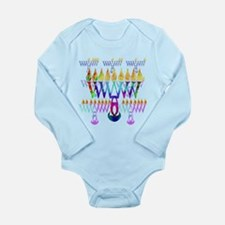 Cute Hannukah Long Sleeve Infant Bodysuit