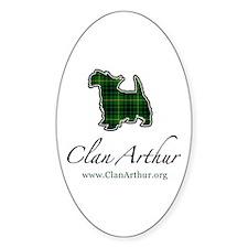 Clan Arthur Scotty Dog Oval Decal