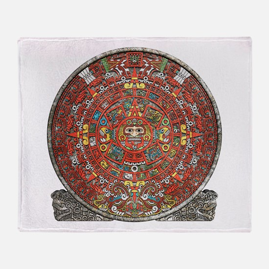 Mayan Calendar . Throw Blanket