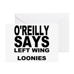 LEFT WING LOONIES Greeting Cards (Pk of 10)