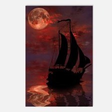 Full Moon Sail Ship Postcards (Package of 8)