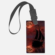 Full Moon Sail Ship Luggage Tag