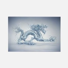 Water Dragon Rectangle Magnet