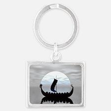 Viking Ship Landscape Keychain