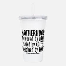 Motherhood Quote Acrylic Double-wall Tumbler