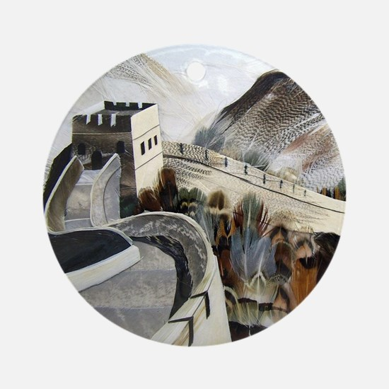 Chinese Great Wall Round Ornament