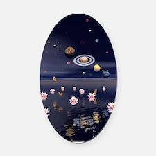 Lotus Universe Oval Car Magnet