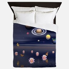 Lotus Universe Queen Duvet