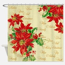 Christmas words Shower Curtain