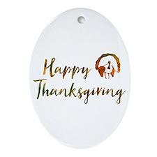 happy thanksgiving bokeh Oval Ornament