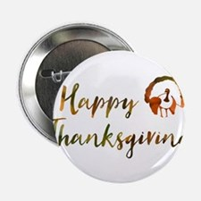 "happy thanksgiving bokeh 2.25"" Button (10 pack)"