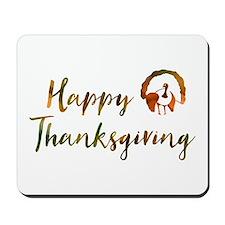 happy thanksgiving bokeh Mousepad