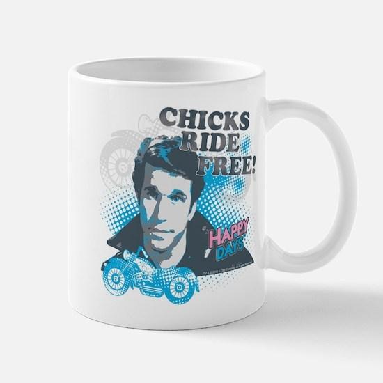 Happy Days Chicks Ride Free Mug