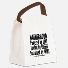 Motherhood Quote Canvas Lunch Bag