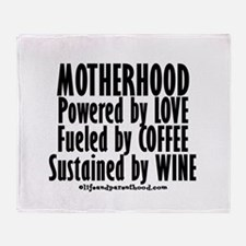 Motherhood Quote Throw Blanket