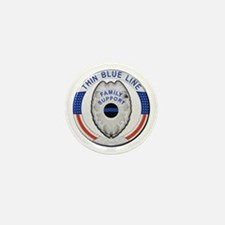 Family Thin Blue Line Mini Button