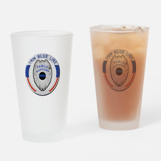 Family Thin Blue Line Drinking Glass