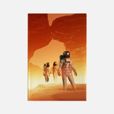 Mars Explorers Rectangle Magnet