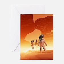 Mars Explorers Greeting Card