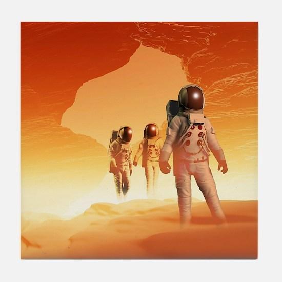 Mars Explorers Tile Coaster