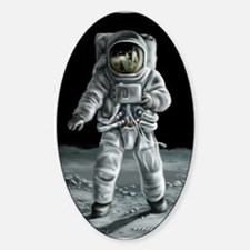 Moonwalker Astronaut Sticker (Oval)