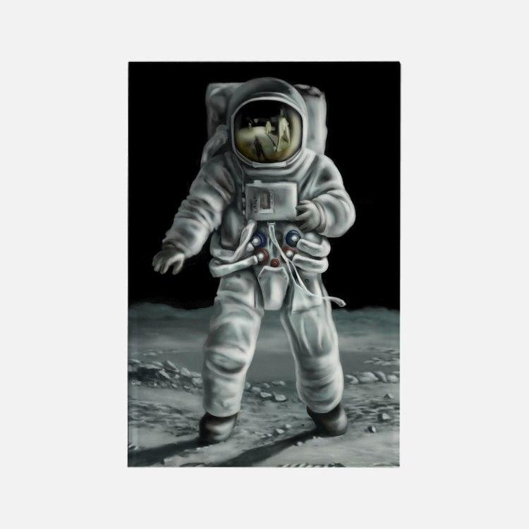 Moonwalker Astronaut Rectangle Magnet