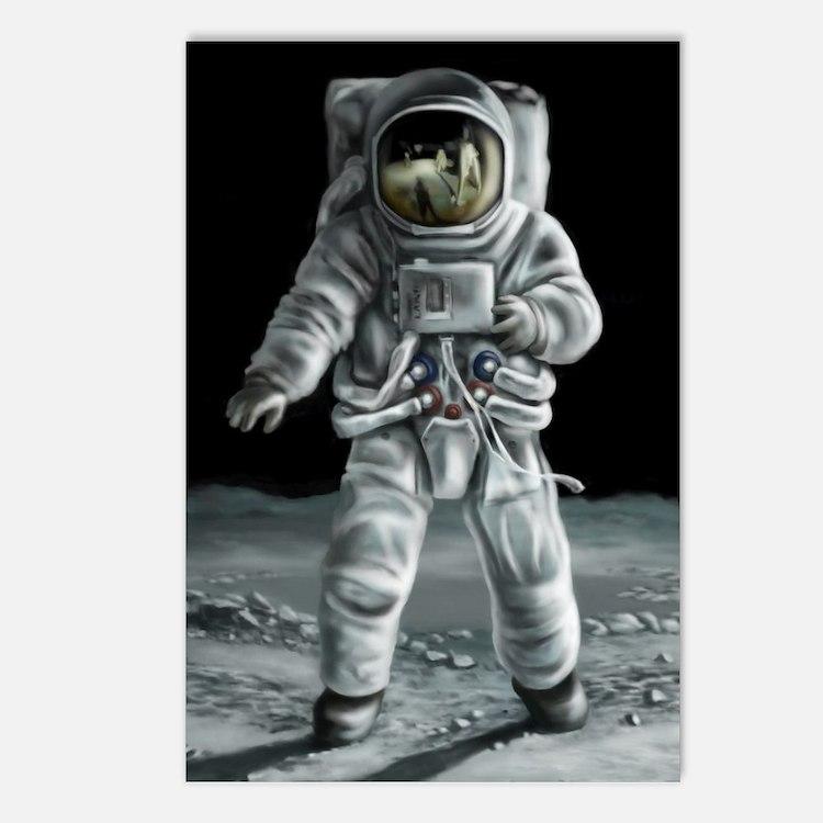 Moonwalker Astronaut Postcards (Package of 8)