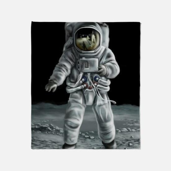 Moonwalker Astronaut Throw Blanket