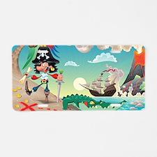 Pirate Cartoon Aluminum License Plate