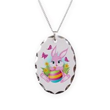 Pink Easter Bunny Necklace