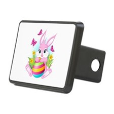 Pink Easter Bunny Hitch Cover