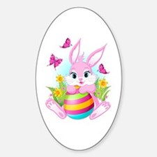 Pink Easter Bunny Decal