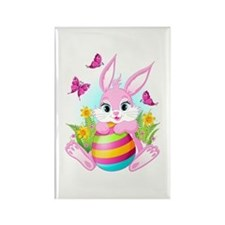 Pink Easter Bunny Magnets